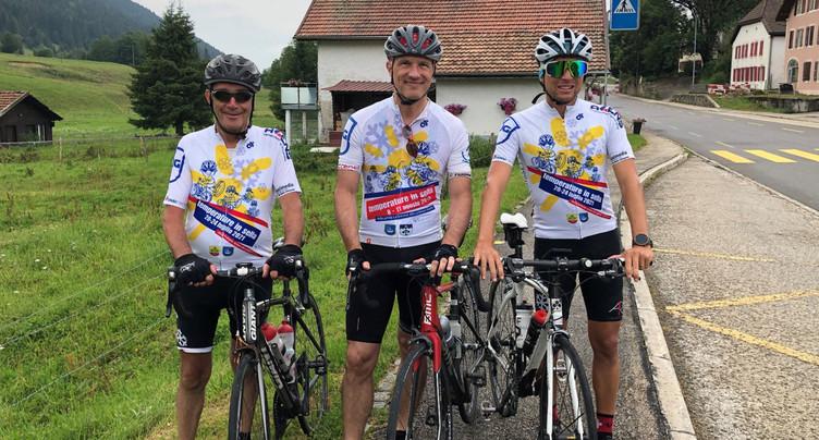 Les cyclistes de Grono sont arrivés à La Brévine