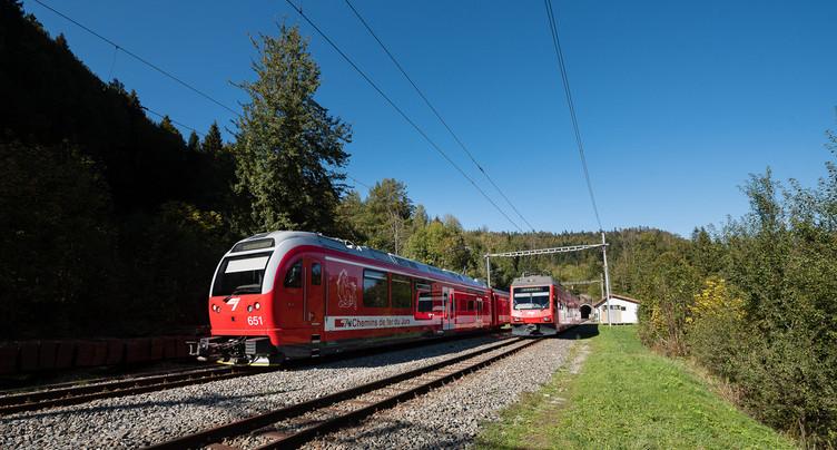 Des bus à la place des trains entre Glovelier et le Pré-Petitjean