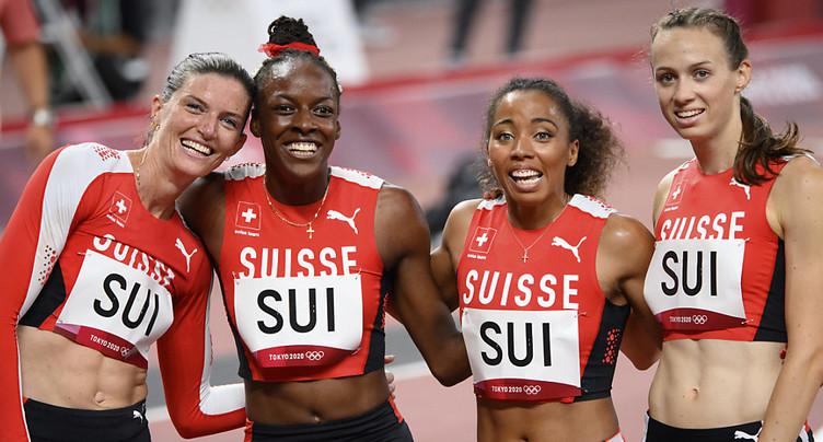 Suissesses du 4x400m éliminées malgré un joli record