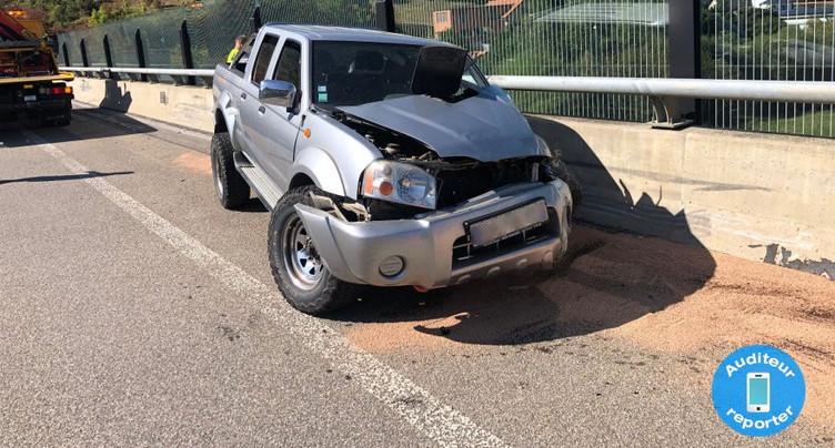Accident sur l'A16 à Porrentruy