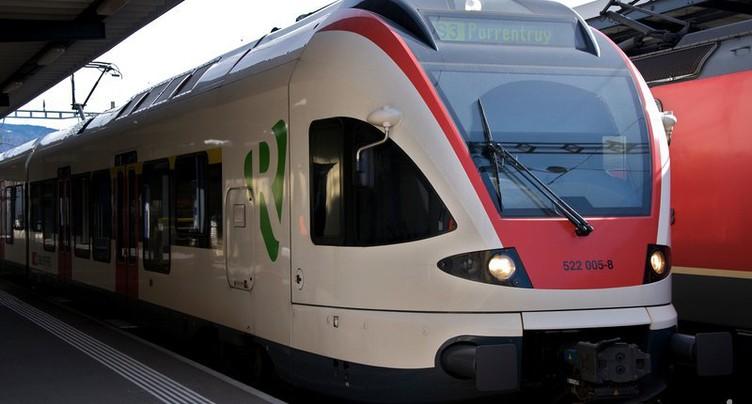 Les trains ne circulent plus entre Bâle et Delémont