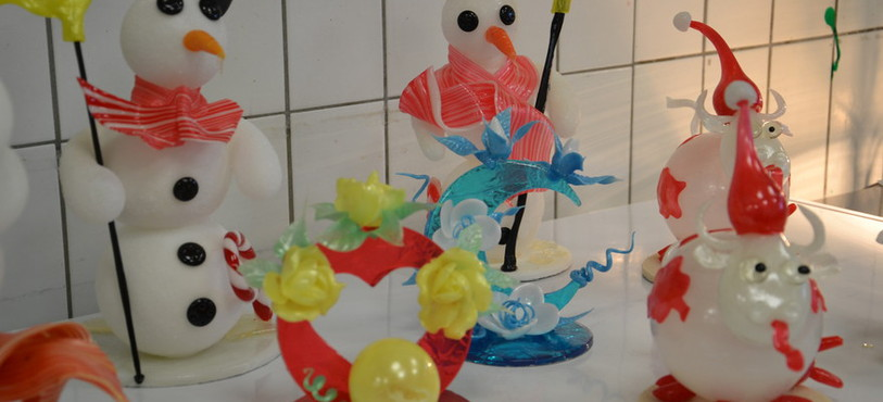 Les cuisiniers des Charmettes se sont lancés dans des confections en sucre pour accueillir l'hiver.