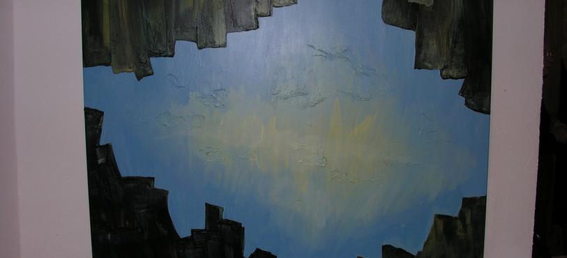 Un des tableaux d'Adriana Ioset présentés pour cette dernière exposition à la galerie Bleu de Chine.