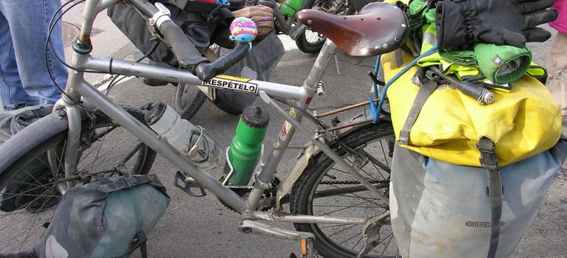 Les vélos de Lydie et Eric à leur retour.