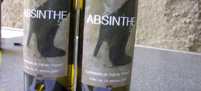 L'étiquette de la cuvée d'absinthe spéciale a été créée par Yves Landry.