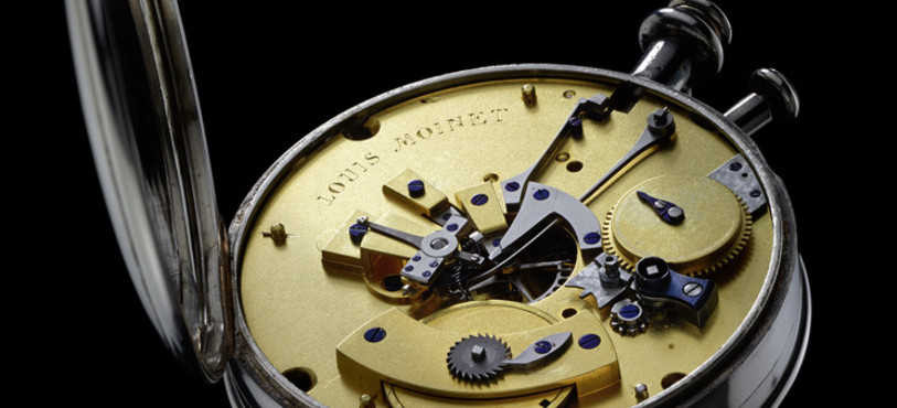 L'arrière du premier chronographe jamais conçu.