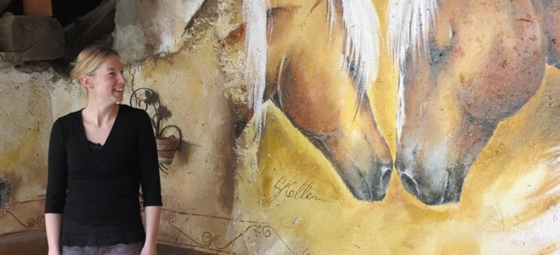 Sandrine Koller et sa fresque