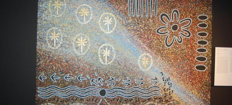 Le désert, source d'inspiration dans l'art aborigène australien.