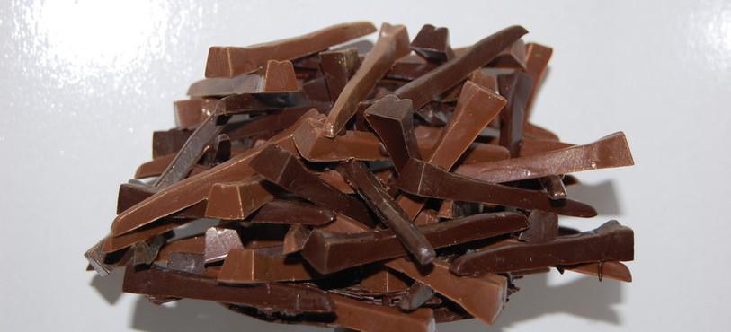 Une sculpture réalisée avec les clous, une des spécialités de la chocolaterie Jacot.