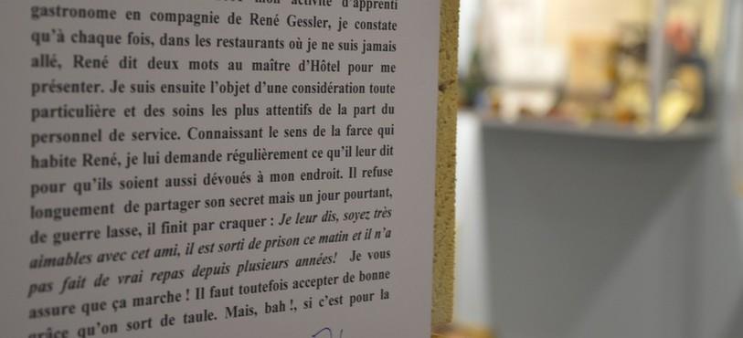 Un exemple des traits d'humour de René Gessler.