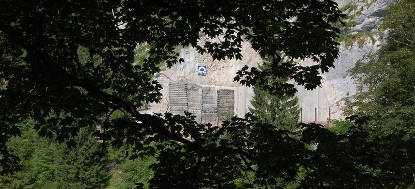 L'entrée est du tunnel, avant l'explosion.