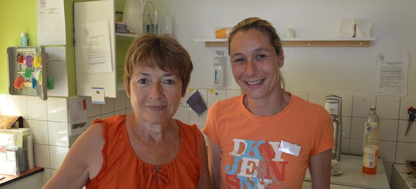 Deux des 30 bénévoles qui oeuvrent pour l'association.