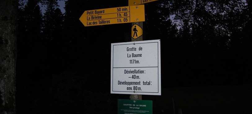 La grotte de la Baume, un des sites suivis dans le Val-de-Travers.