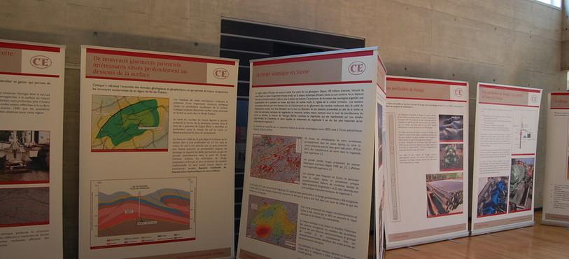 Une partie de l'exposition de Celtique Energie.