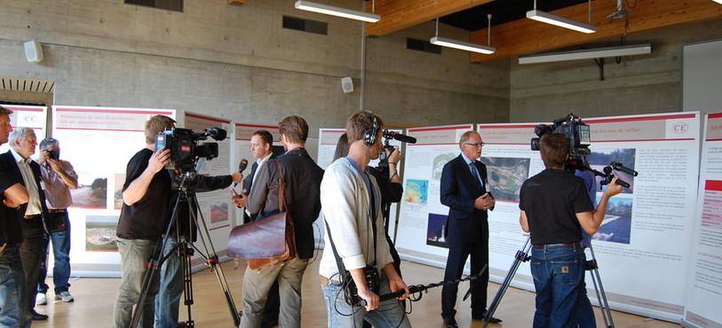 Les journalistes étaient nombreux avant l'ouverture de l'exposition de Celtique Energie.