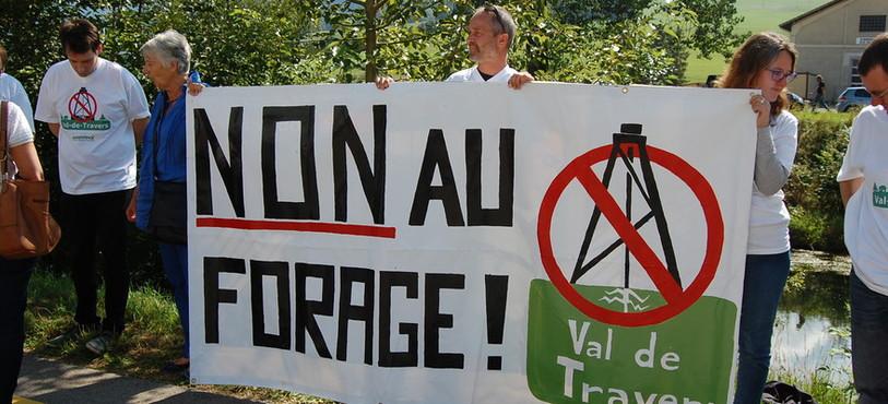 Les opposants au projet de forage se sont mobilisés.