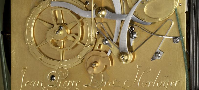 mouvement signé «Jean Pierre Droz Horloger de S.A. Mgr L'Evêque de Basle et de la Cour à la Ferrière»