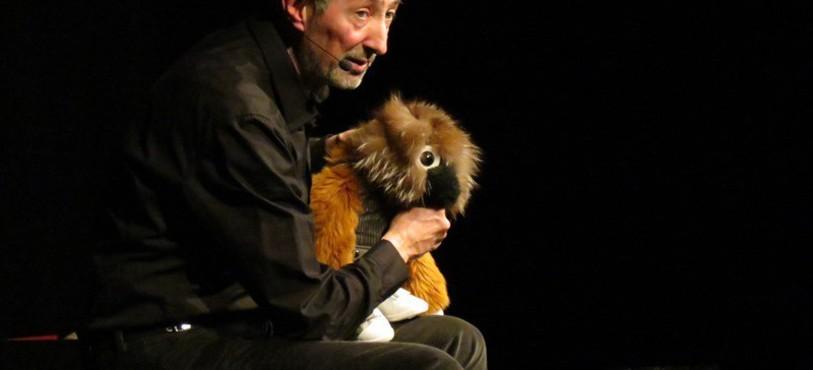 Michel Déjeneffe et sa marionnette