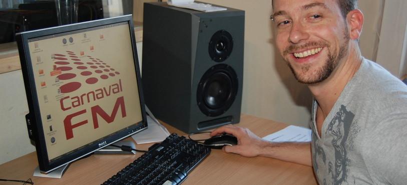 Grégory Hofmann, le chef d'antenne de Carnaval FM.