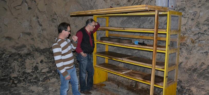 L'étagère construite pour les premiers tests