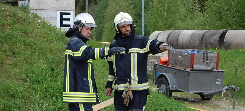 La formation d'instructeurs sapeurs-pompiers.