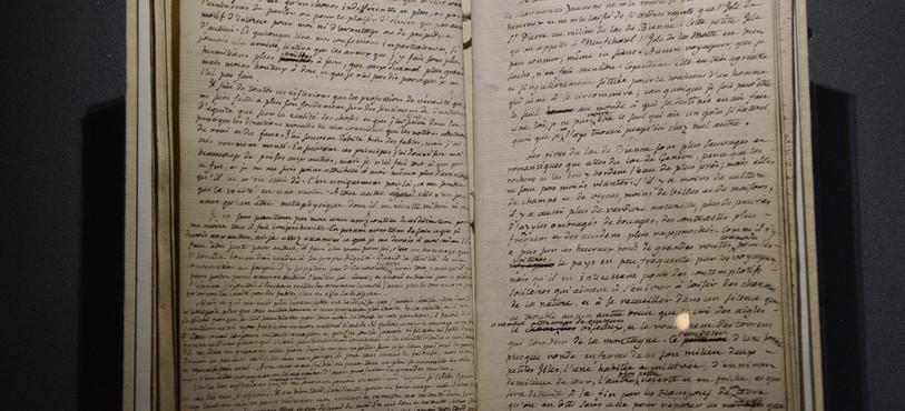 L'unique manuscrit des Rêveries du promeneur solitaire.