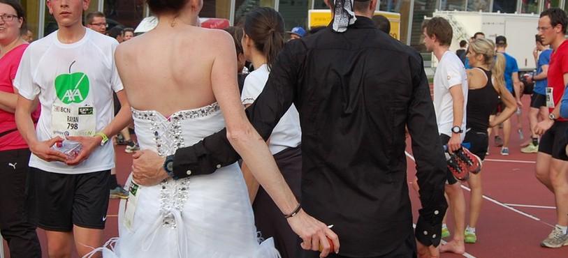 Pierre Fournier et son épouse après la course.