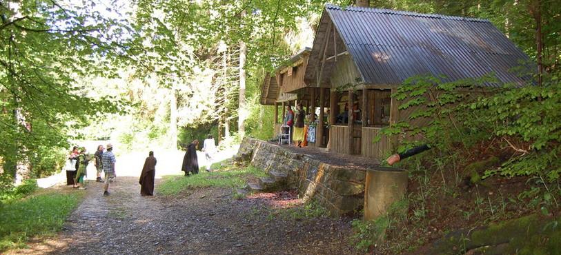 L'entrée du village elfique.