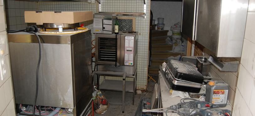 La cuisine n'est pas encore prête!