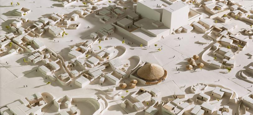 Maquette de la ville antique de Kerma, vers 2000 av. J.-C. (photo M. Juillard).