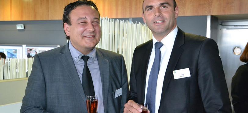 Jean-Nath Karakash, conseiller d'Etat neuchâtelois, et Laurent Favre, conseiller national neuchâtelois.