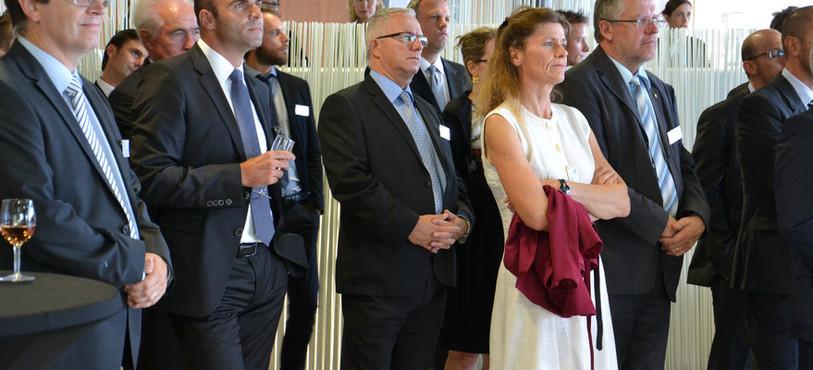 Laurent Favre, conseiller national neuchâtelois, Christine Gaillard, conseillère communale à Neuchâtel et Jacques-André Maire, conseiller national neuchâtelois.