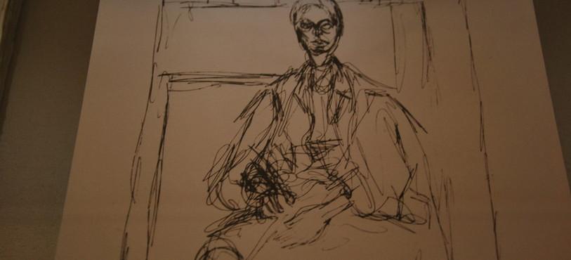 Portrait d'Edith Boissonnas par Alberto Giacometti.