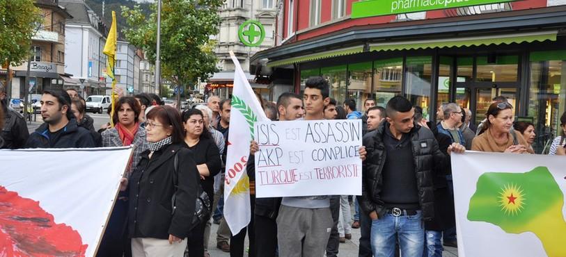 Manifestation des Kurdes du Jura à Delémont
