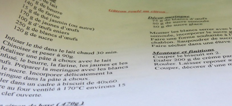 Recette pâtissière
