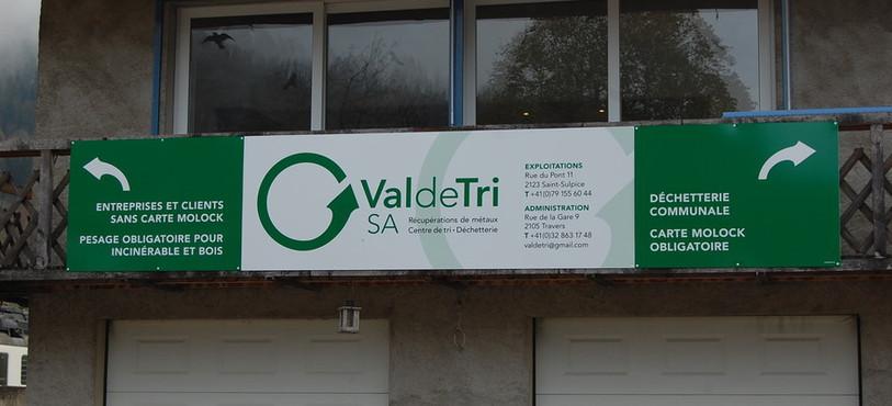 La déchetterie de Saint-Sulpice à Val-de-Travers.
