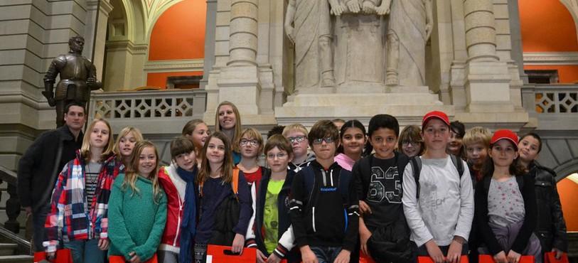 Les enfants ont pu visiter le Palais fédéral.
