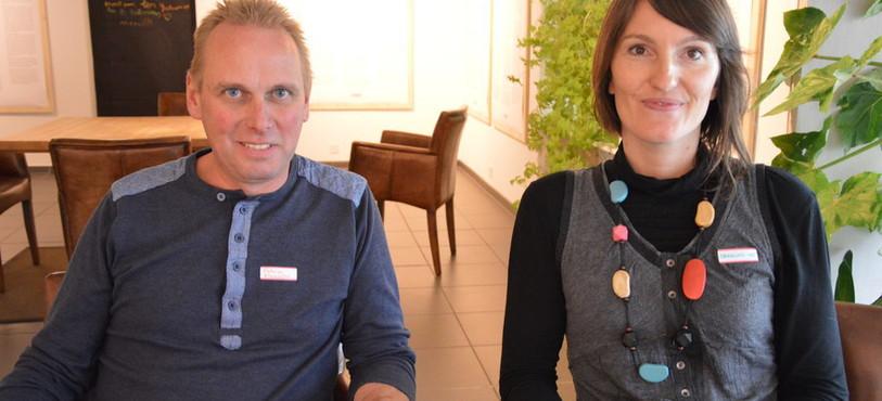Patrice Viatte et Caroline Métais du réseau de la Chaussure rouge.