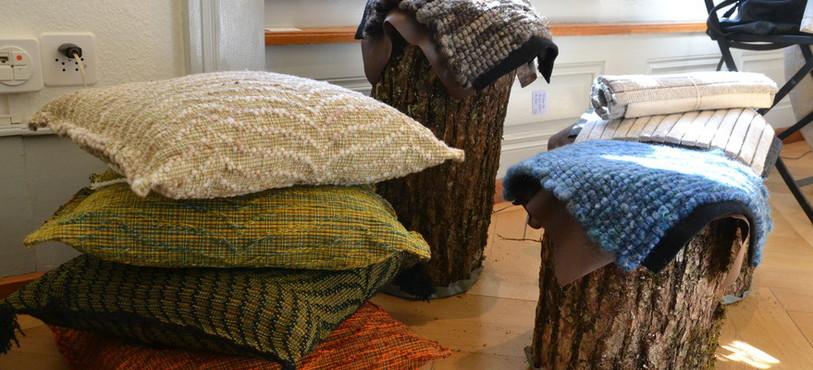 """Oeuvres issues de l'exposition """"La laine en métamorphoses"""""""