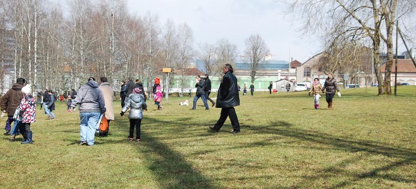 La course aux oeufs de dimanche, dans le jardin du Musée.
