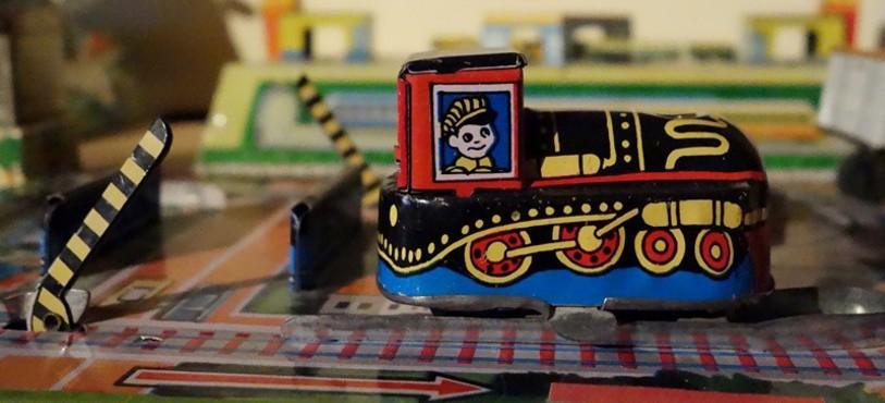 Musée du Jouet - Fahy - Petit train en métal
