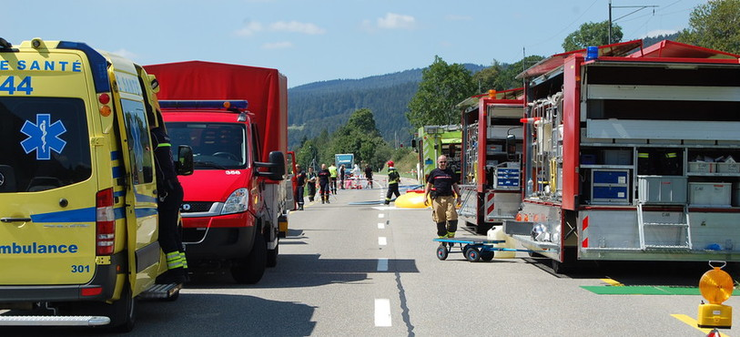 De nombreux hommes et véhicules ont été mobilisés.