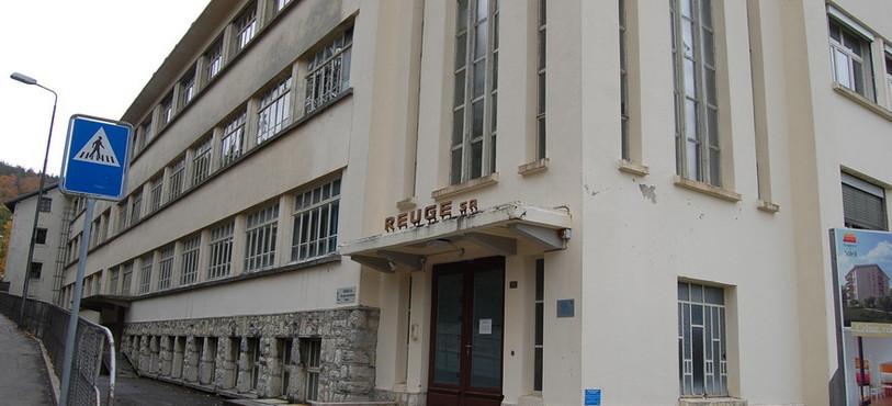 L'ancien bâtiment de l'entreprise Reuge.