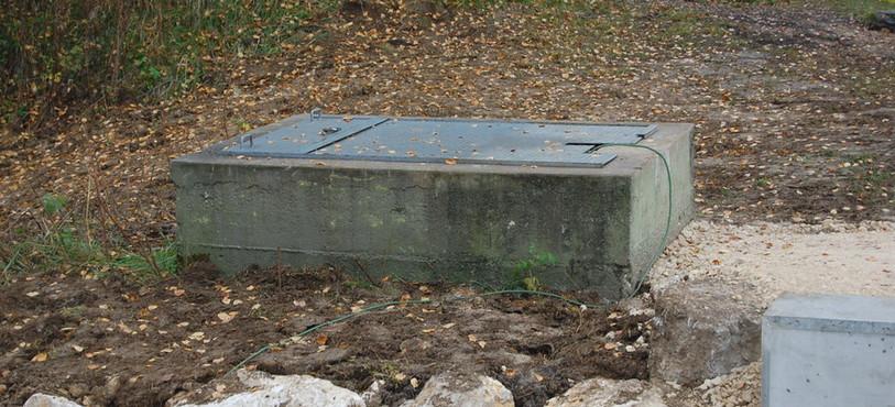 L'emplacement de l'ancienne vanne.