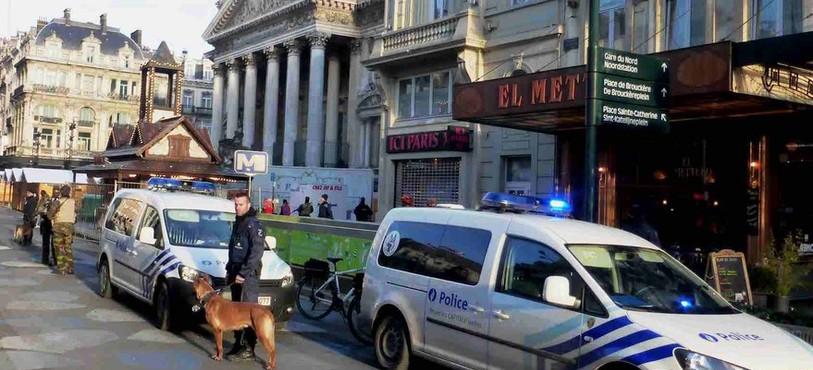 Bruxelles en état d'alerte. Photo: Julien Knoepfler