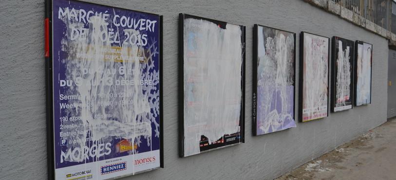 Panneau publicitaire de la SGA vandalisé à Neuchâtel