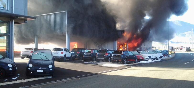Incendie Garage de Courtételle