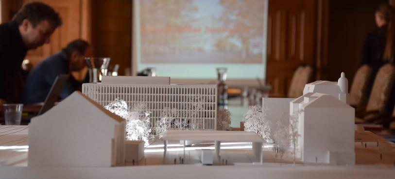 La maquette du Nouvel Hôtel Judiciaire présentée par le Conseil d'Etat.