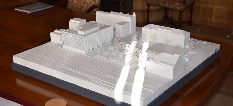 Vue générale du futur Nouvel Hôtel Judiciaire.