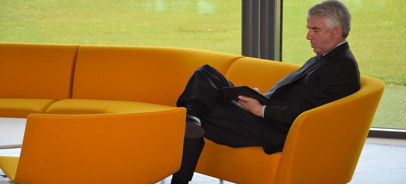 Robert Hugin, PDG de Celgene, était également présent jeudi à Boudry.